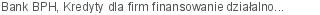 Bank BPH Kredyty dla firm finansowanie działalności bieżącej Gdynia pomorskie