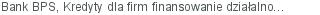 Bank BPS Kredyty dla firm finansowanie działalności bieżącej Gdynia pomorskie