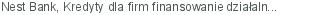 Nest Bank Kredyty dla firm finansowanie działalności bieżącej Gdynia pomorskie