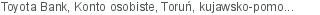 Toyota Bank Konto osobiste Toruń kujawsko-pomorskie
